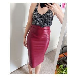 🍍2/$15 Faux leather high waist pencil skirt